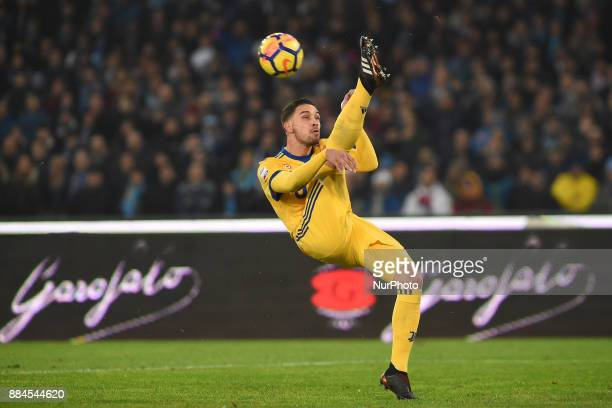 Mattia De Sciglio of Juventus during the Serie A TIM match between SSC Napoli and Juventus FC at Stadio San Paolo Naples Italy on 1 December 2017