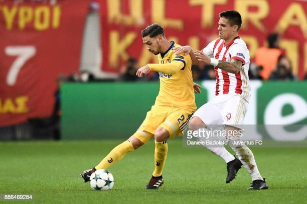 Mattia De Sciglio of Juventus during the UEFA Champions League group D match between Olympiakos Piraeus and Juventus at Juventus Stadium on December...