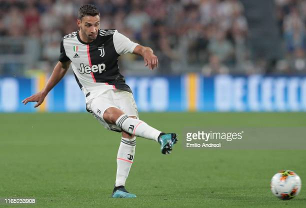 Mattia De Sciglio of Juventus in action during the Serie A match between Juventus and SSC Napoli at Allianz Stadium on August 31 2019 in Turin Italy