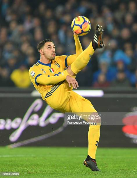 Mattia De Sciglio of Juventus in action during the Serie A match between SSC Napoli and Juventus at Stadio San Paolo on December 1 2017 in Naples...