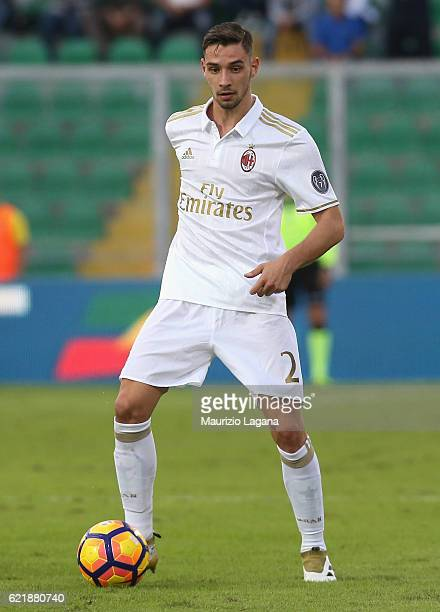Mattia De Sciglio of Mian during the Serie A match between US Citta di Palermo and AC Milan at Stadio Renzo Barbera on November 6 2016 in Palermo...