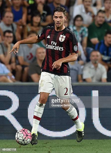 Mattia De Sciglio of Milan in action during the TIM preseason tournament match between AC Milan and FC Internazionale at Mapei Stadium Città del...