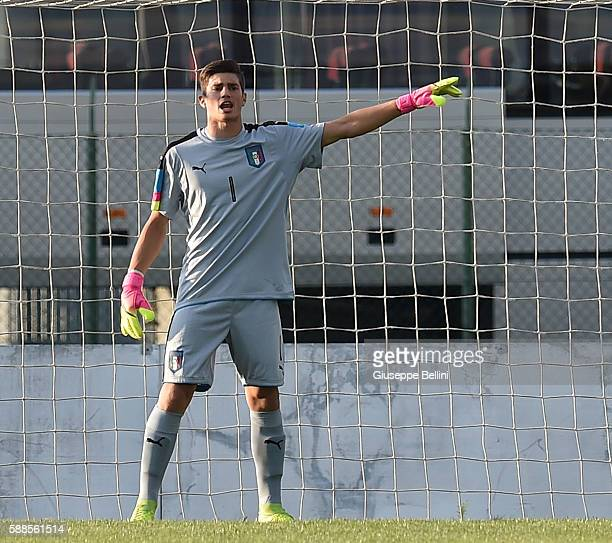 Mattia Del Favero of Italy U19 in action during the international friendly match between Italy U19 and Croatia U19 at on August 11 2016 in Manzano...