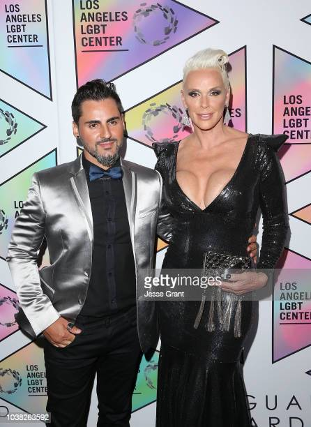 Mattia Dessi and Brigitte Nielsen attend the Los Angeles LGBT Center's 49th Anniversary Gala Vanguard Awards at The Beverly Hilton Hotel on September...