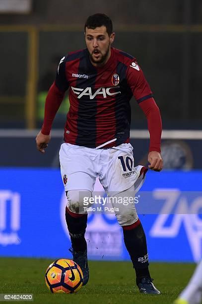 Mattia Desto of Bologna in action during the Serie A match between Bologna FC and US Citta di Palermo at Stadio Renato Dall'Ara on November 20 2016...
