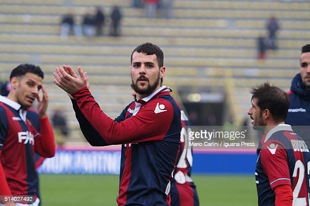 Mattia Destro of Bologna FC gestures during the Serie A match between Bologna FC and Carpi FC at Stadio Renato Dall'Ara on March 6 2016 in Bologna...
