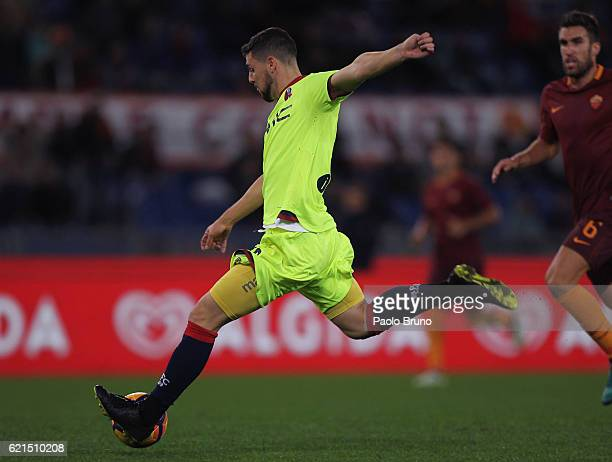 Mattia Destro of Bologna FC in action during the Serie A match between AS Roma and Bologna FC at Stadio Olimpico on November 6 2016 in Rome Italy