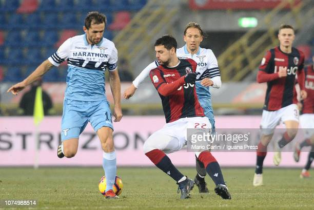 Mattia Destro of Bologna FC in action during the Serie A match between Bologna FC and SS Lazio at Stadio Renato Dall'Ara on December 26 2018 in...