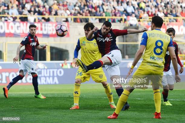 Mattia Destro of Bologna FC in action during the Serie A match between Bologna FC and AC ChievoVerona at Stadio Renato Dall'Ara on March 19 2017 in...