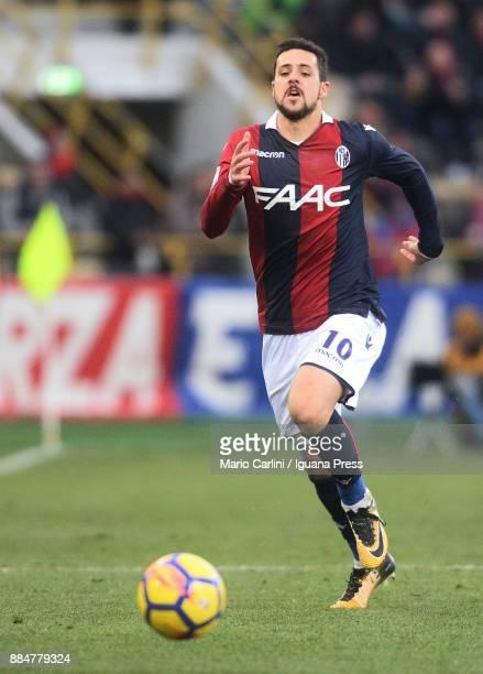 Mattia Destro of Bologna FC in action during the Serie A match between Bologna FC and Cagliari Calcio at Stadio Renato Dall'Ara on December 3 2017 in...