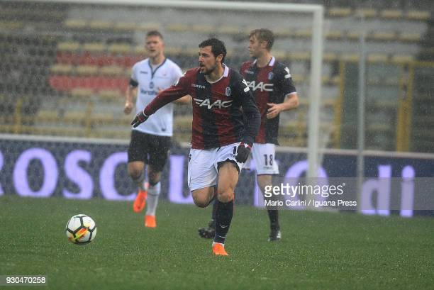 Mattia Destro of Bologna FC in action during the serie A match between Bologna FC and Atalanta BC at Stadio Renato Dall'Ara on March 11 2018 in...