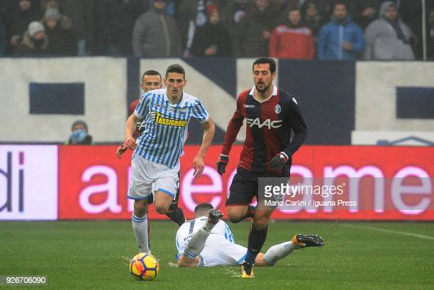 Mattia Destro of Bologna FC in action during the serie A match between Spal and Bologna FC at Stadio Paolo Mazza on March 3 2018 in Ferrara Italy