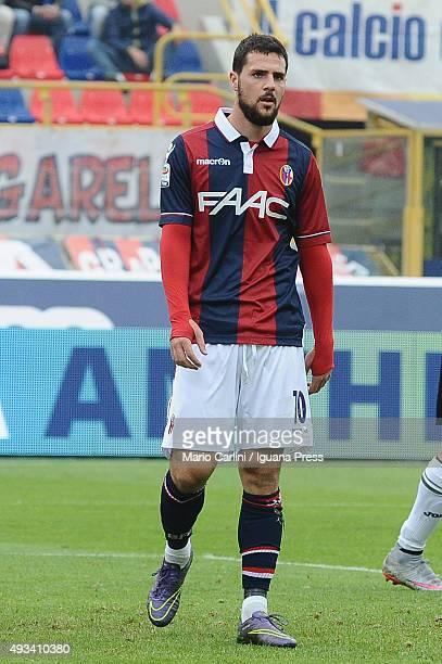 Mattia Destro of Bologna FC looks on during the Serie A match between Bologna FC and US Citta di Palermo at Stadio Renato Dall'Ara on October 18 2015...