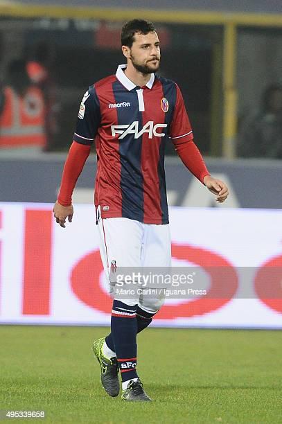 Mattia Destro of Bologna FC looks on during the Serie A match between Bologna FC and FC Internazionale Milano at Stadio Renato Dall'Ara on October 27...