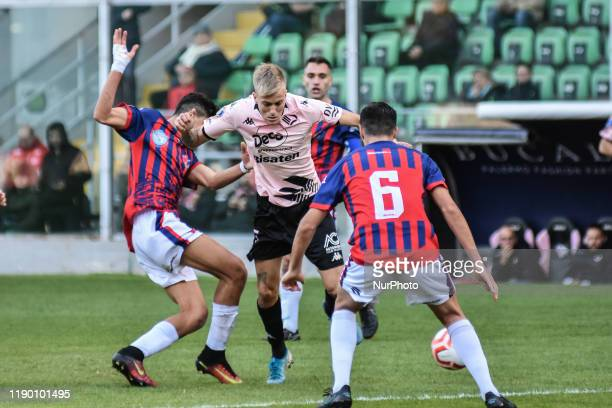 Mattia Felici during the serie D match between SSD Palermo and ASD Troina at Stadio Renzo Barbera on December 22, 2019 in Palermo, Italy.