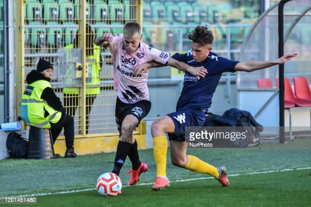 Mattia Felici during the serie D match between SSD Palermo and ASD Biancavilla at Stadio Renzo Barbera on February 16, 2020 in Palermo, Italy.