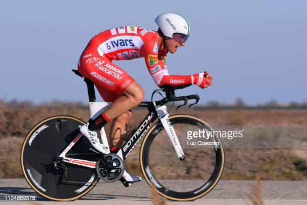 Mattia Frapporti of Italy and Team Androni Giocattoli Sidermec / during the 4th Tour de La Provence 2019 Stage 1 a 89km Individual Time Trial stage...
