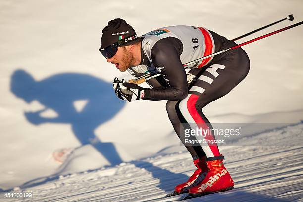 Mattia Pellegrin of Italy competes during the FIS CrossCountry World Cup Men's 15km Classic on December 7 2013 in Lillehammer Norway