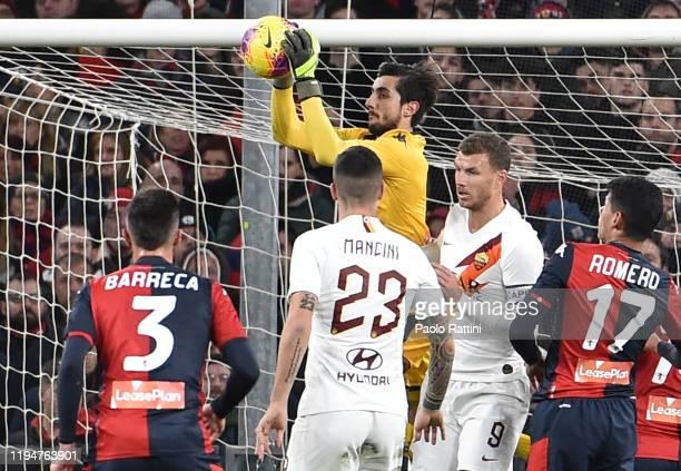 Mattia Perin goalkeeper of Genoa CFC during the Serie A match between Genoa CFC and AS Roma at Stadio Luigi Ferraris on January 19 2020 in Genoa Italy