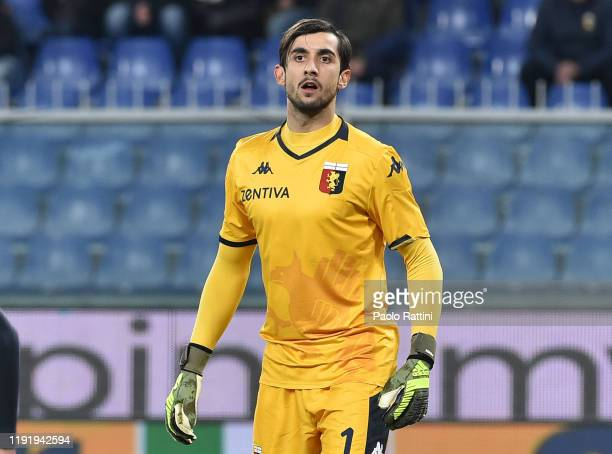 Mattia Perin goalkeeper of Genoa CFC looks on during the Serie A match between Genoa CFC and US Sassuolo at Stadio Luigi Ferraris on January 5, 2020...