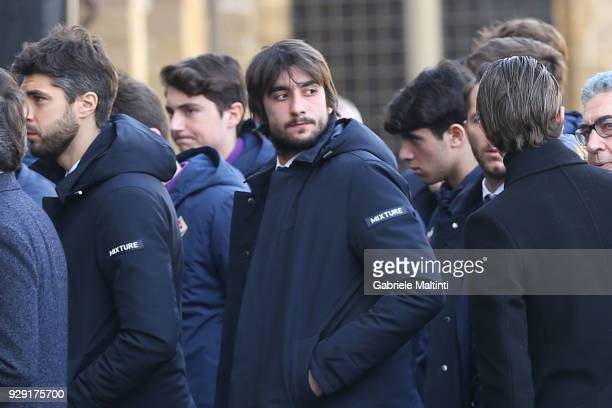 Mattia Perin of Genoa CFC during the funeral of Davide Astori on March 8 2018 in Florence Italy The Fiorentina captain and Italy international Davide...