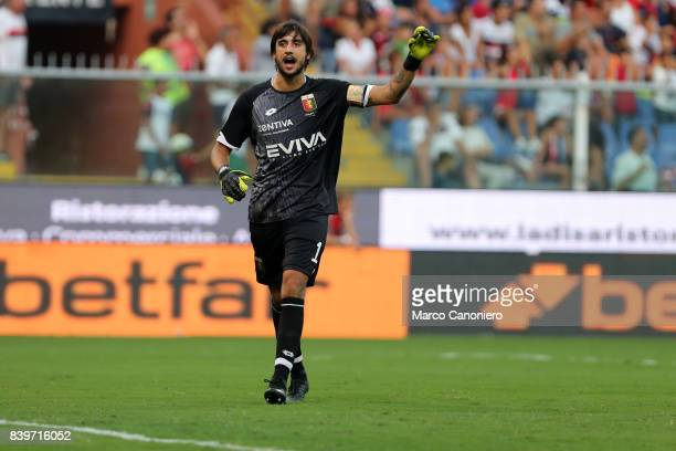 Mattia Perin of Genoa CFC during the Serie A football match between Genoa CFC and Juventus FC Genoa lost the match to Juventus by 2 goals to 4
