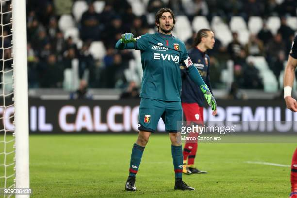 Mattia Perin of Genoa CFC during the Serie A football match between Juventus FC and Genoa Cfc Juventus Fc wins 10 over Genoa Cfc