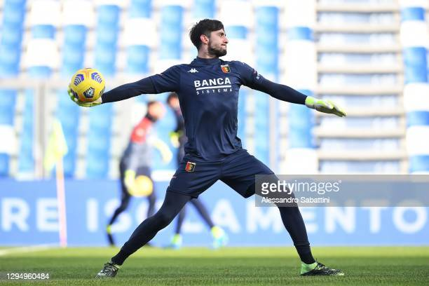 Mattia Perin of Genoa CFC during the Serie A match between US Sassuolo and Genoa CFC at Mapei Stadium - Città del Tricolore on January 06, 2021 in...