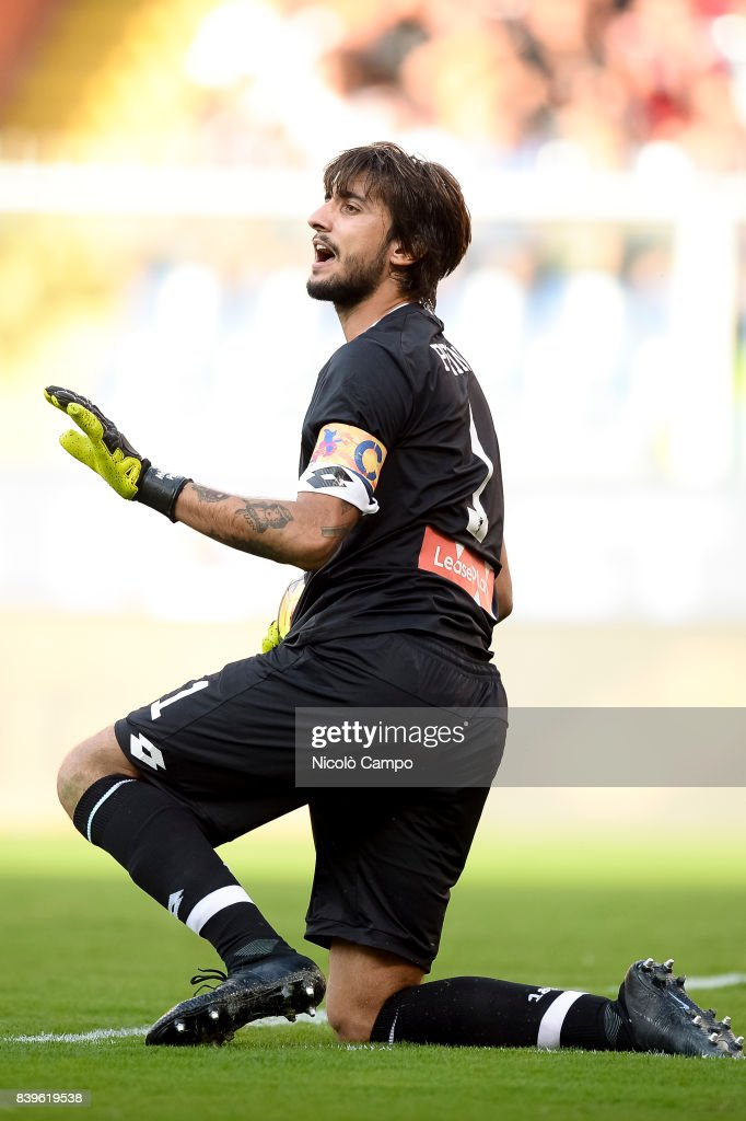 Mattia Perin Of Genoa Cfc Gestures During The Serie A Football Match Between Genoa Cfc And
