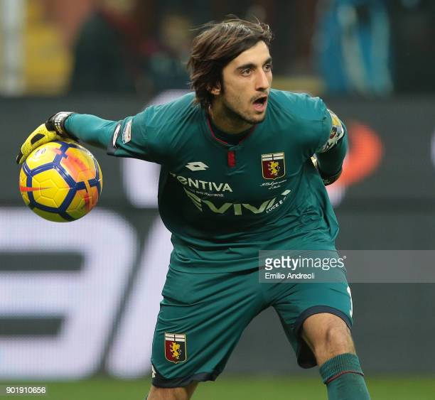Mattia Perin of Genoa CFC in action during the serie A match between Genoa CFC and US Sassuolo at Stadio Luigi Ferraris on January 6 2018 in Genoa...