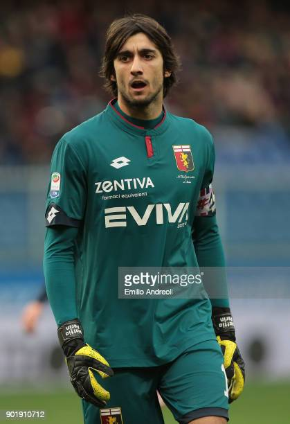 Mattia Perin of Genoa CFC looks on during the serie A match between Genoa CFC and US Sassuolo at Stadio Luigi Ferraris on January 6 2018 in Genoa...