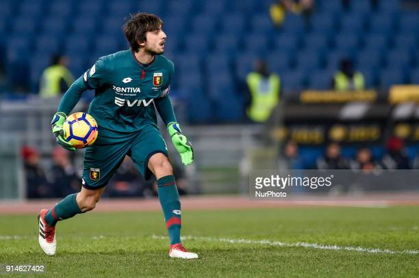 Mattia Perin of Genoa during the Serie A match between Lazio and Genoa at Olympic Stadium Roma Italy on 5 February 2018