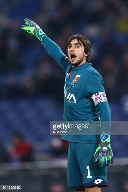 Mattia Perin of Genoa during the Serie A match between SS Lazio and Genoa at Stadio Olimpico on February 5 2018 in Rome Italy