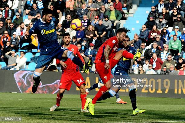 Mattia Valoti of SPAL in action during the Serie A match between SPAL and ACF Fiorentina at Stadio Paolo Mazza on February 17 2019 in Ferrara Italy