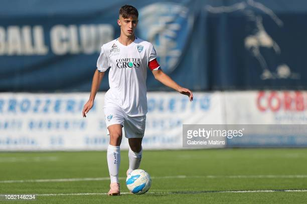 Mattia Viti of Empoli U17 in action during the match between Empoli FC U17 and ACF Fiorentina U17 on October 14 2018 in Empoli Italy