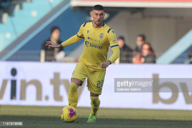 Mattia Zaccagni of Hellas Verona in action during the Serie A match between SPAL and Hellas Verona at Stadio Paolo Mazza on January 5 2020 in Ferrara...