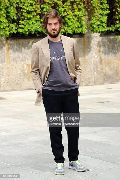 Mattia Zaccaro Garau attends 'Il Pretore' Photocall at Apollo Spazio Cinema on April 2 2014 in Milan Italy