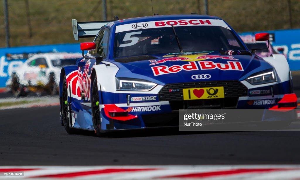 Mattias Ekstöm of Swiden and Audi Sport Team Abt Sportsline racing driver during the Hungarian DTM race on June 18, 2017 in Mogyoród, Hungary.