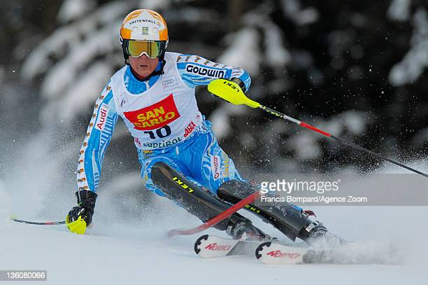 Mattias Hargin of Sweden during the Audi FIS Alpine Ski World Cup Men's Slalom on December 19 2011 in Alta Badia Italy