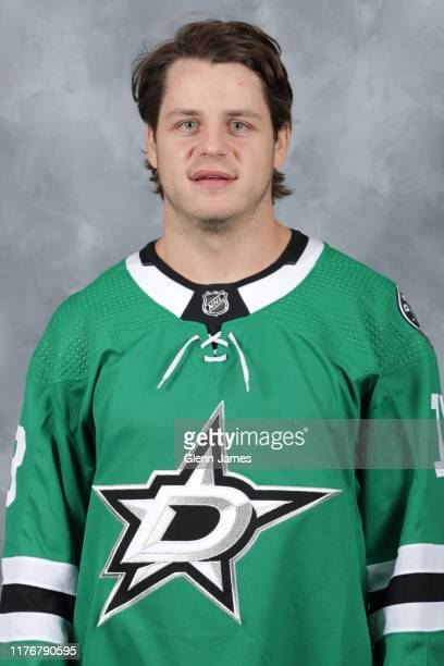 Mattias Janmark of the Dallas Stars poses for his official headshot for the 20192020 season on September 12 2019 at the Comerica Center in Frisco...