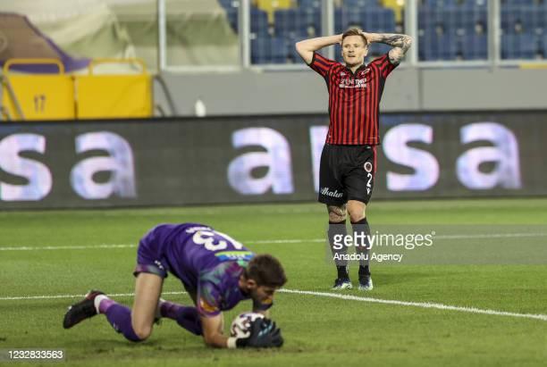 Mattias Johansson of Genclerbirligi gestures during the Turkish Super Lig week 41 soccer match between Genclerbirligi and Turkish Super Lig at...