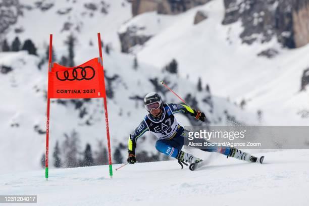 Mattias Roenngren of Sweden in action during the FIS Alpine Ski World Championships Men's & Women's Parallel Giant Slalom on February 16, 2021 in...