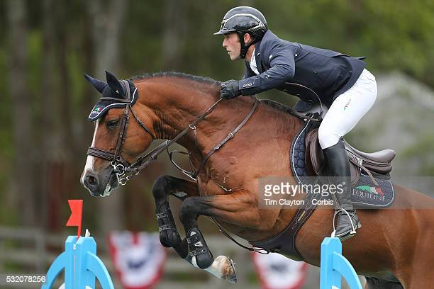 Mattias Tromp USA riding Avon in action during The $50000 Old Salem Farm Grand Prix presented by The Kincade Group at the Old Salem Farm Spring Horse...