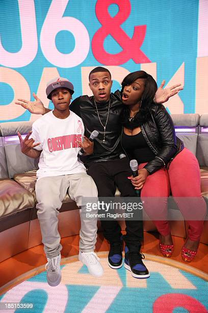 Mattie Dee Pimpin Brown Bow Wow and Keyonnah Abrams attend 106 Park at 106 Park studio on October 17 2013 in New York City