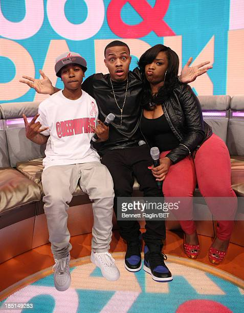 Mattie Dee Pimpin Brown Bow Wow and Keyonnah Abrams visits 106 Park at 106 Park on October 17 2013 in New York City