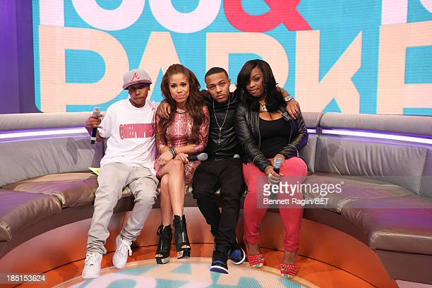 Mattie Dee Pimpin Brown Keshia Chante Bow Wow and Keyonnah Abrams attend 106 Park at 106 Park studio on October 17 2013 in New York City