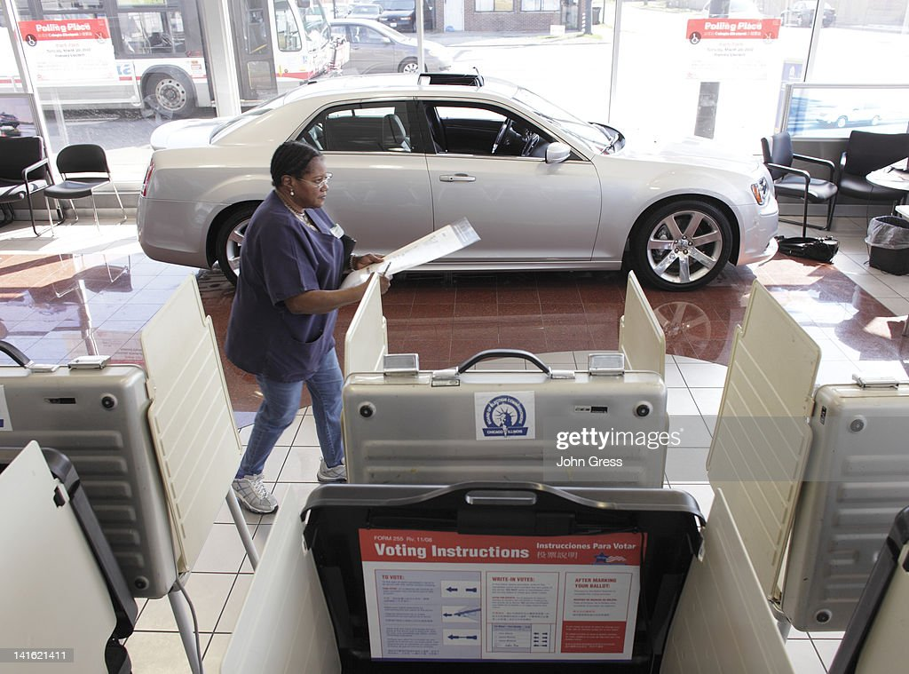 Mattie Gibson Casts Her Ballot At South Chicago Dodge Chrysler Jeep In The  State Primary March