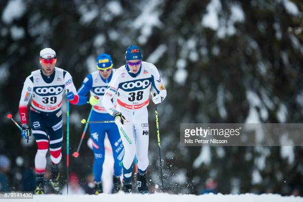 MattiHeikkinen of Finlandduring the mens cross country 15K classic competition at FIS World Cup Ruka Nordic season opening at Ruka Stadium on...