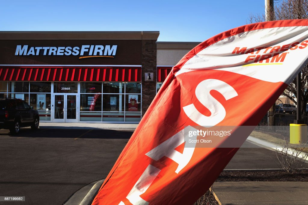 Mattresses are offered for sale at a Mattress Firm store on December 6, 2017 in Chicago, Illinois. Steinhoff International Holdings N.V., which is the parent company of Mattress Firm, saw its stock value plummet more than 60 percent today after the resignation of CEO Markus Jooste and an announcement from the company that it was launching an investigation into accounting irregularities.