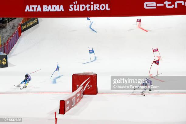 Matts Olsson of Sweden Alexis Pinturault of France compete during the Audi FIS Alpine Ski World Cup Men's Parallel Giant Slalom on December 17 2018...